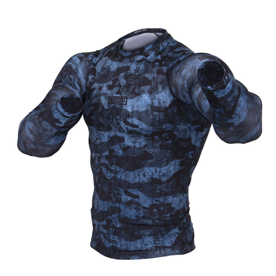 Modrý rashguard Fighter