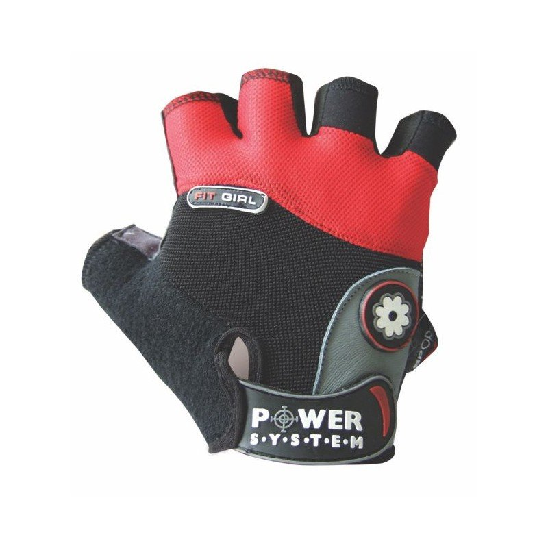 Červené fitness rukavice Power System