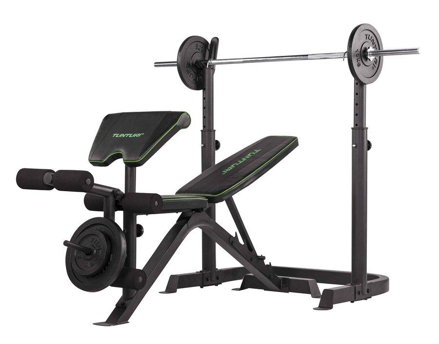 Posilovací lavice - TUNTURI WB50 Mid Width Weight Bench