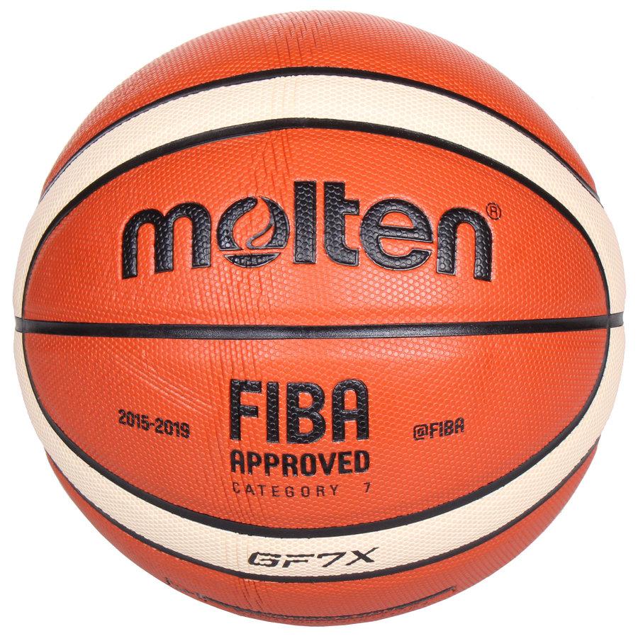 Oranžový basketbalový míč BGF7, Molten - velikost 7