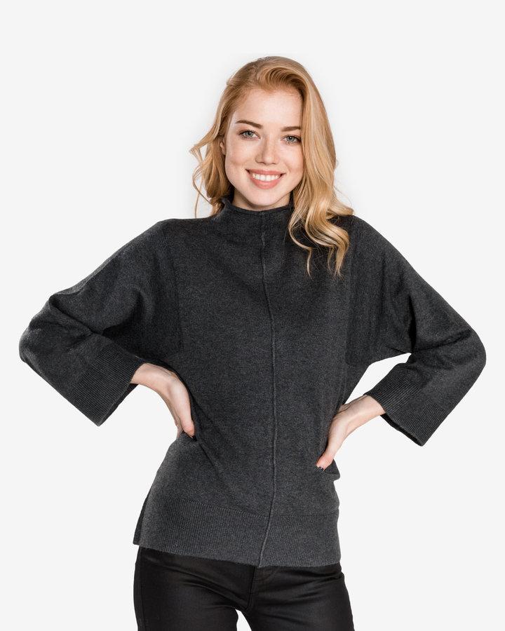 Šedý dámský svetr French Connection - velikost S