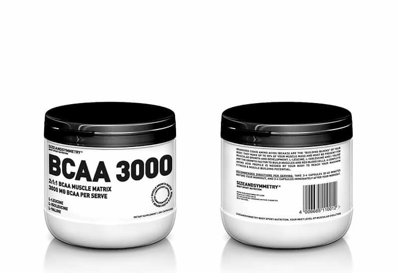 BCAA - SIZEANDSYMMETRY BCAA 3000 200 cps. BCAA 3000 200 cps.