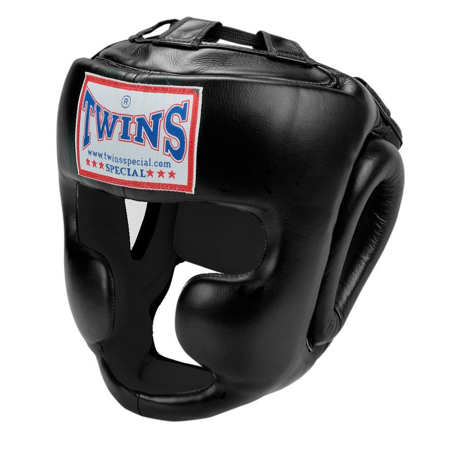 Černá boxerská přilba Twins - velikost S