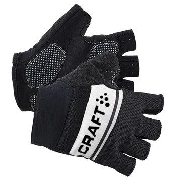 Bílo-černé cyklistické rukavice Craft - velikost S