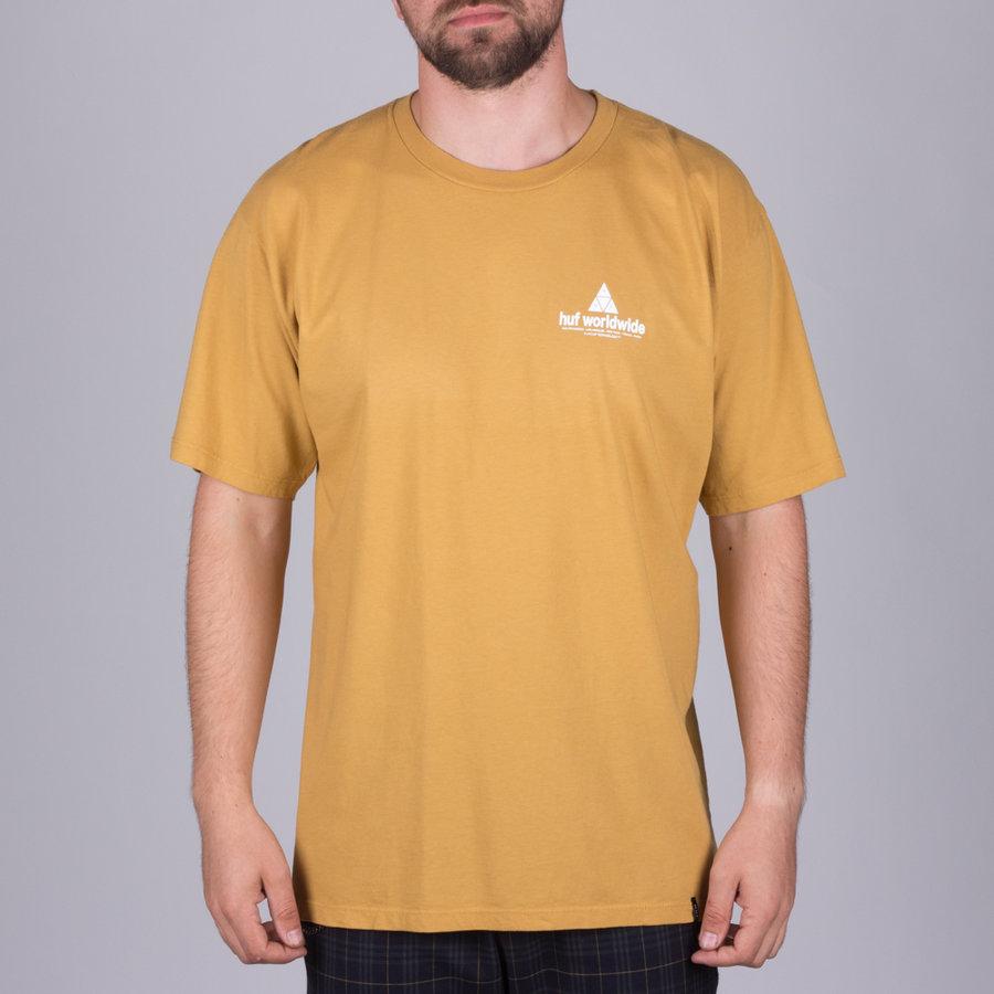Béžové pánské tričko s krátkým rukávem Huf - velikost M