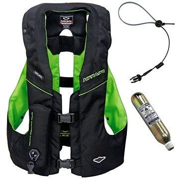 Černo-zelená airbagová vesta Hit-Air