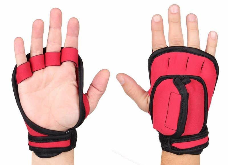 Růžové dámské neoprenové rukavice R418, Merco