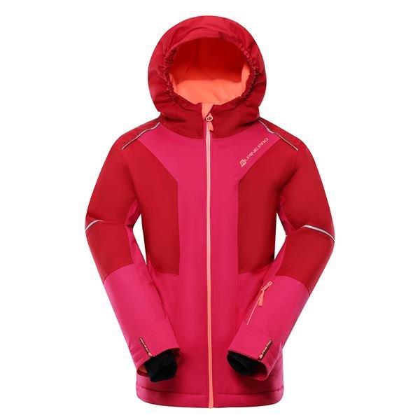 Růžová dívčí lyžařská bunda Alpine Pro - velikost 164-170