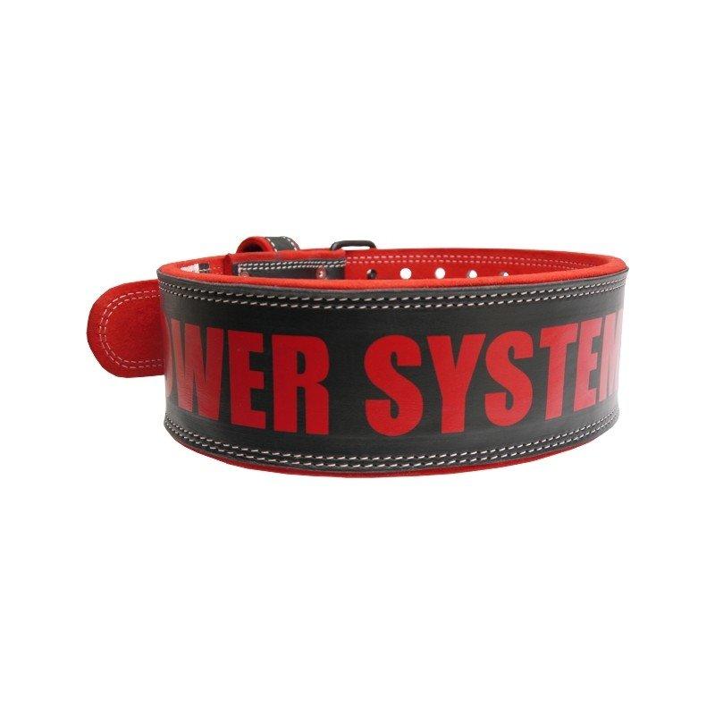 Kožený unisex fitness opasek Power System