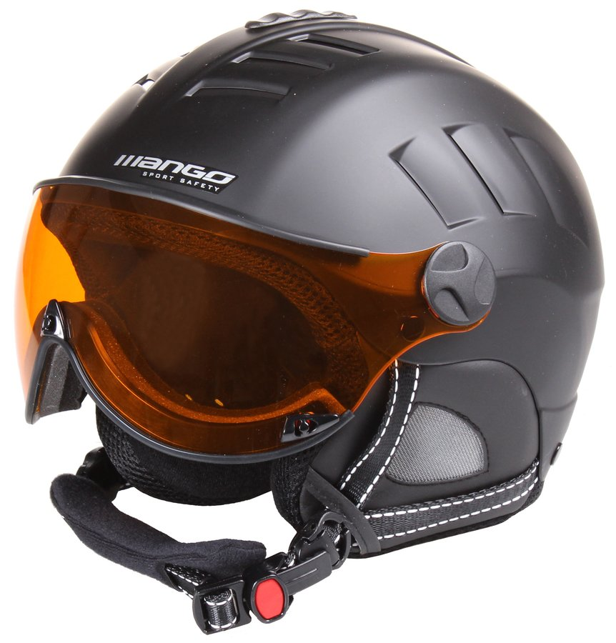 Černá lyžařská helma Volcano PRO, Mango - velikost 53-55 cm