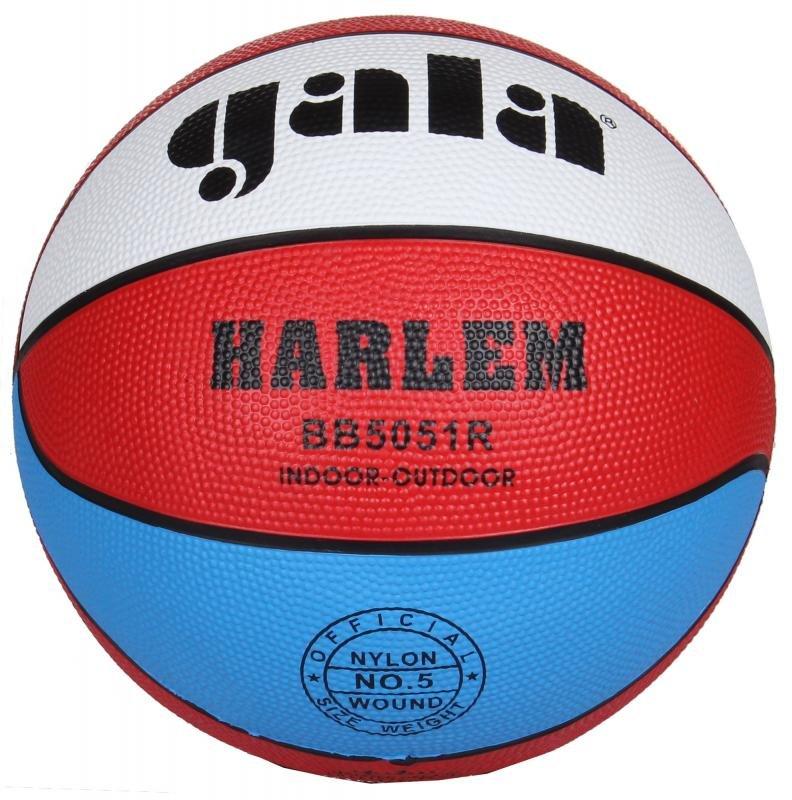 Různobarevný basketbalový míč Harlem BB7051R, Gala - velikost 5