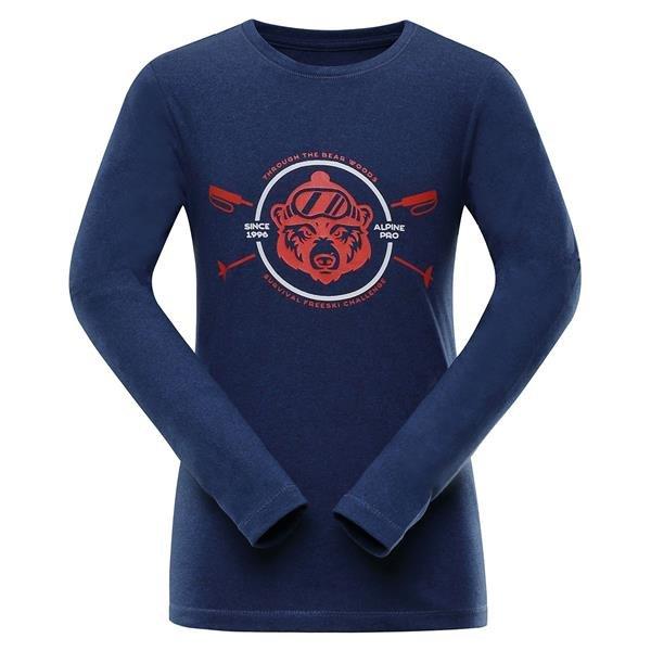 Modré dětské tričko s dlouhým rukávem Alpine Pro - velikost 140-146