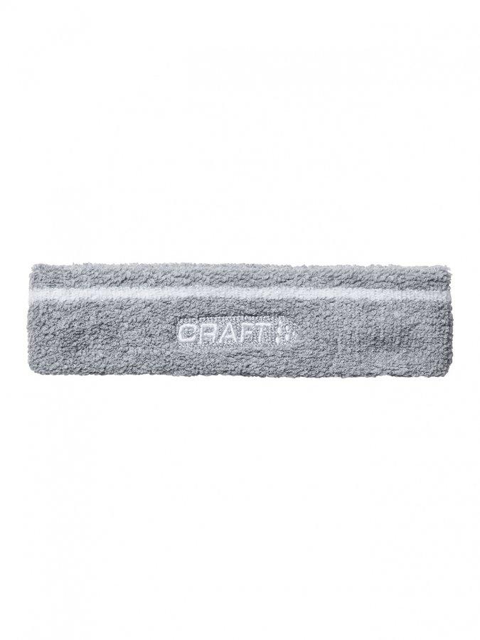 Šedá běžecká čelenka Craft - univerzální velikost