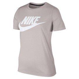 Béžové dámské tričko s krátkým rukávem Nike