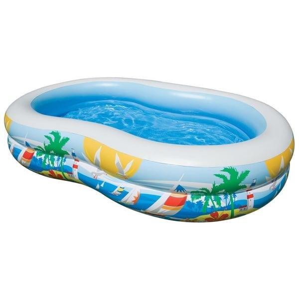 Nadzemní nafukovací oválný bazén INTEX - délka 262 cm, šířka 160 cm a výška 50 cm