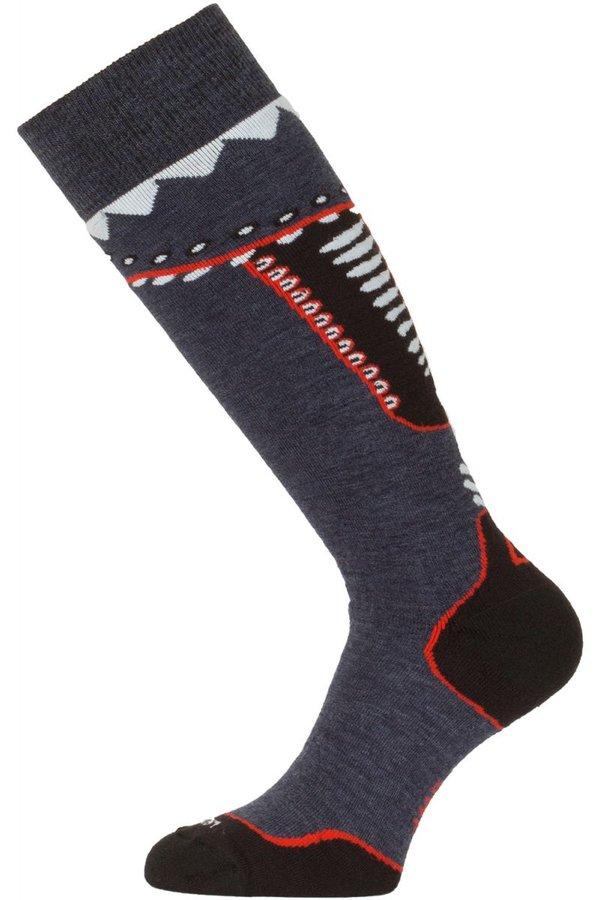 Šedé pánské lyžařské ponožky Lasting - velikost 34-37 EU
