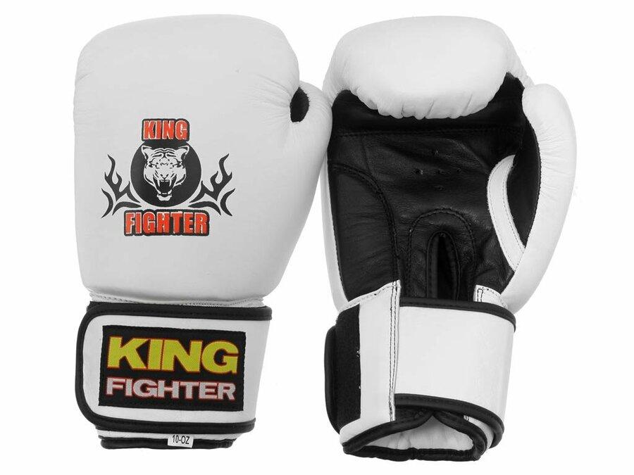 Bílé boxerské rukavice King fighter - velikost 10 oz