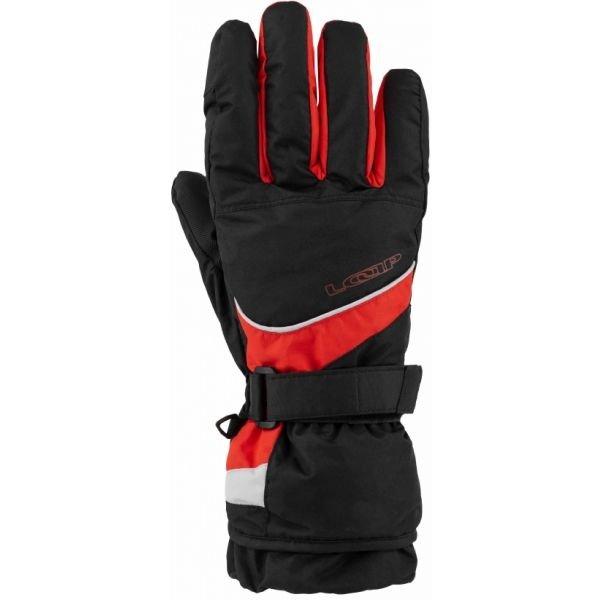 Červené pánské lyžařské rukavice Loap