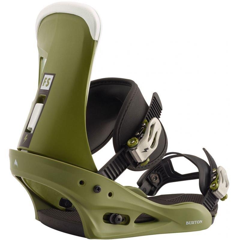 Zelené vázání na snowboard Burton
