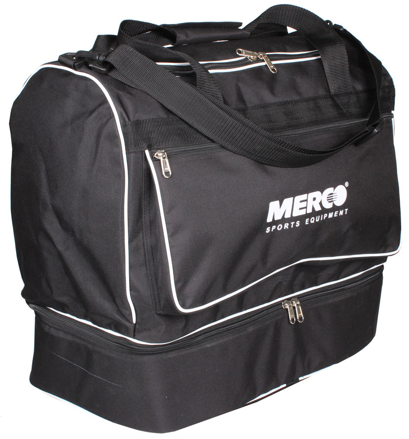 Černá fotbalová taška s dvojitým dnem Merco - objem 70 l