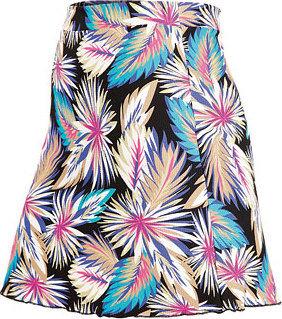 Modro-růžová dámská sukně Litex
