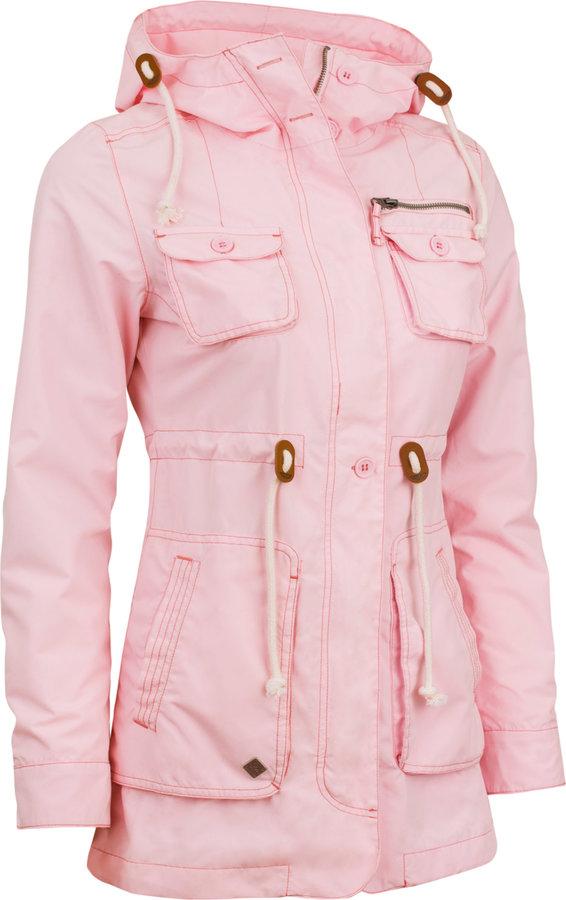 Růžová zimní dámská bunda s kapucí Woox - velikost 34