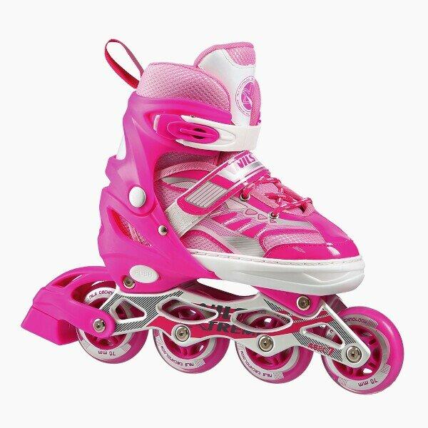 Růžové dětské kolečkové brusle Nils Extreme - velikost 39-42 EU