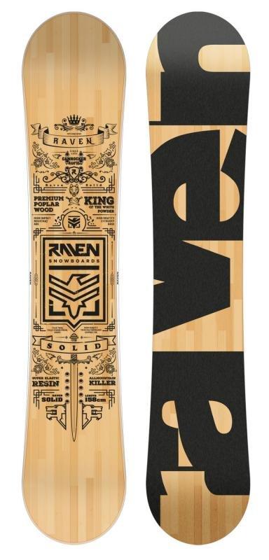 Černo-hnědý snowboard bez vázání Raven