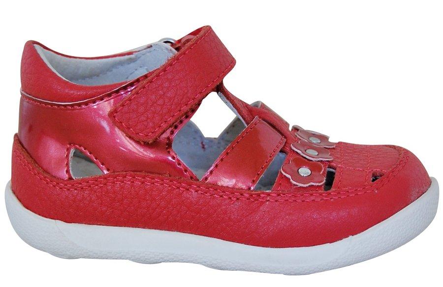 Červené sandály Protetika