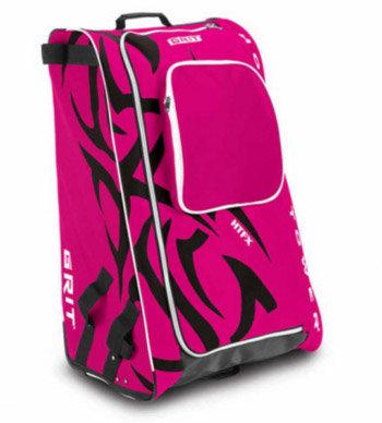 Růžová taška na hokejovou výstroj - junior Grit