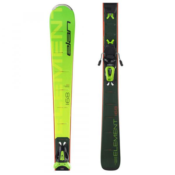 Zelené lyže s vázáním Elan