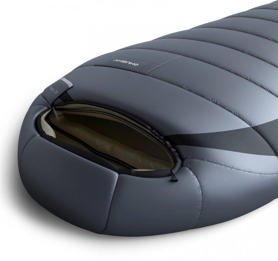Černý spací pytel Husky - délka 220 cm