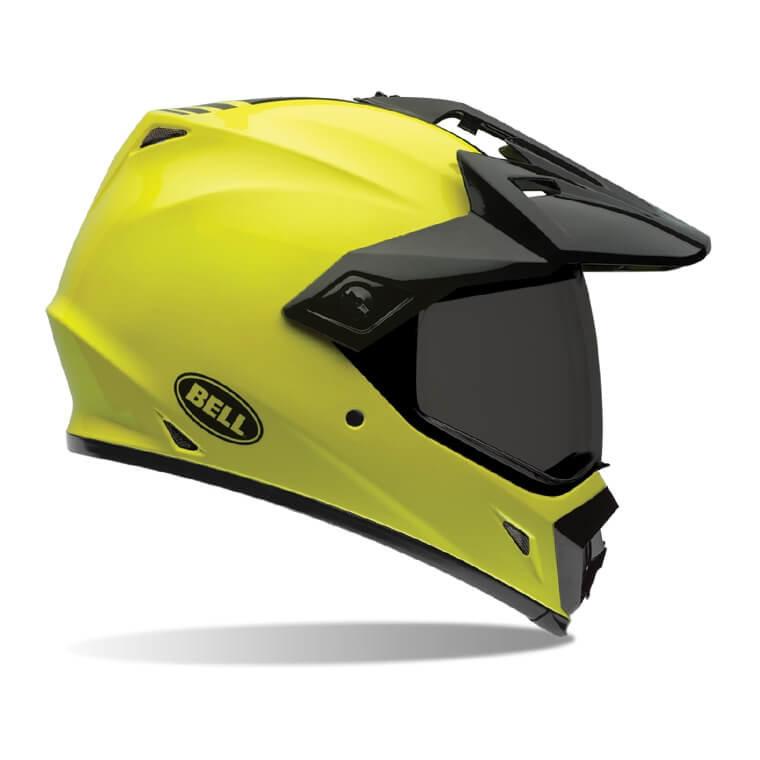 Černo-žlutá unisex helma na motorku Bell