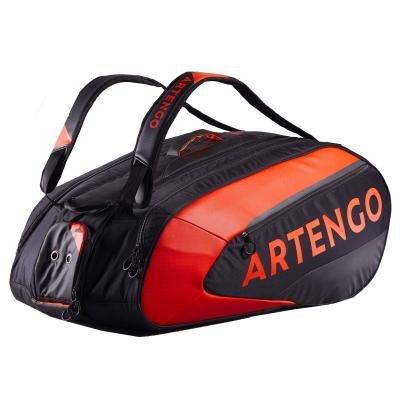 Černo-oranžová tenisová taška Artengo