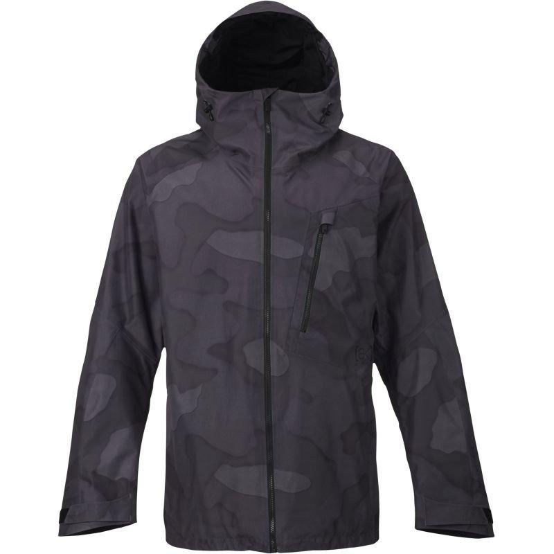 Černo-šedá pánská snowboardová bunda Burton - velikost L
