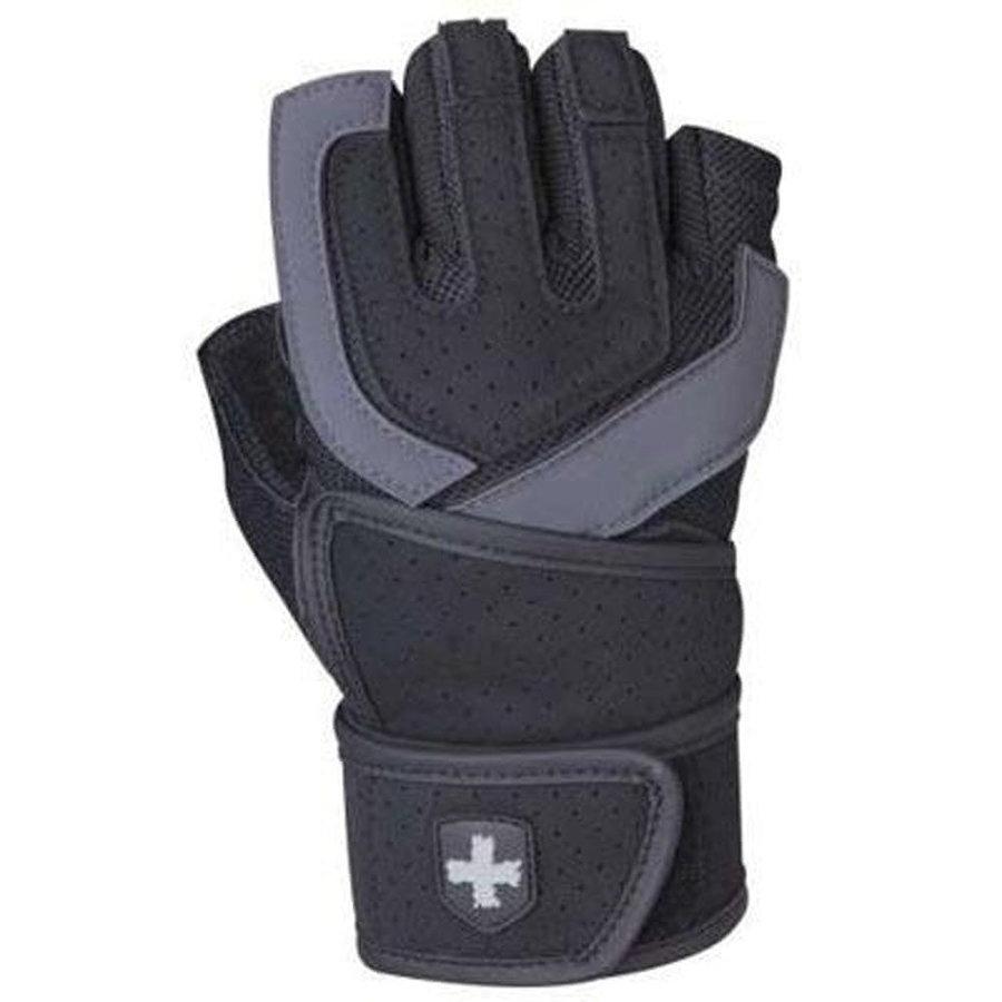 Černo-šedé fitness rukavice Harbinger - velikost S