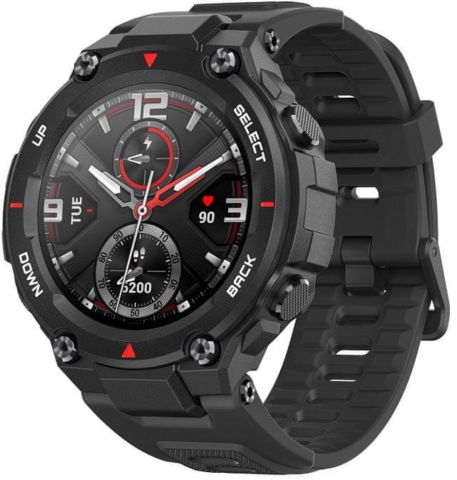Černé analogové chytré hodinky Amazfit, Xiaomi