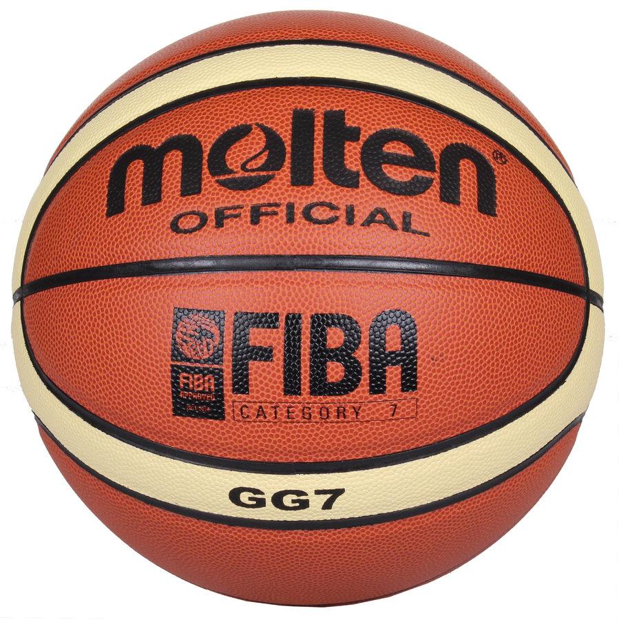 Oranžový basketbalový míč BGG7, Molten - velikost 7