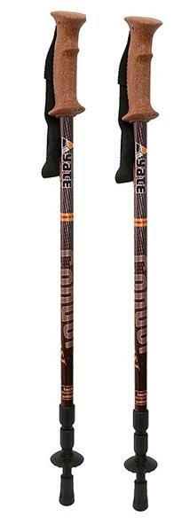 Černo-hnědá trekingová hůl Condor, Yate - délka 140 cm