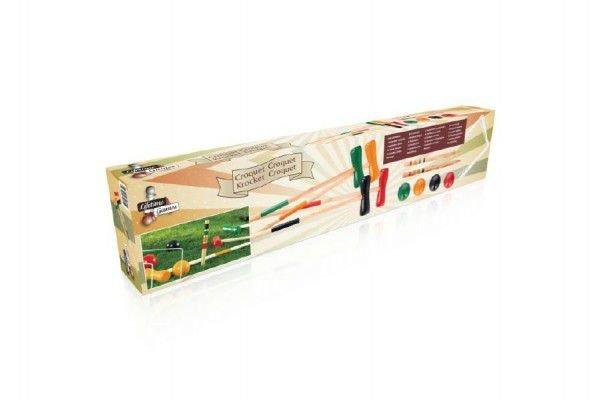 Kroket - Hra Kroket dřevo pro hráče v krabici 77x8x15cm