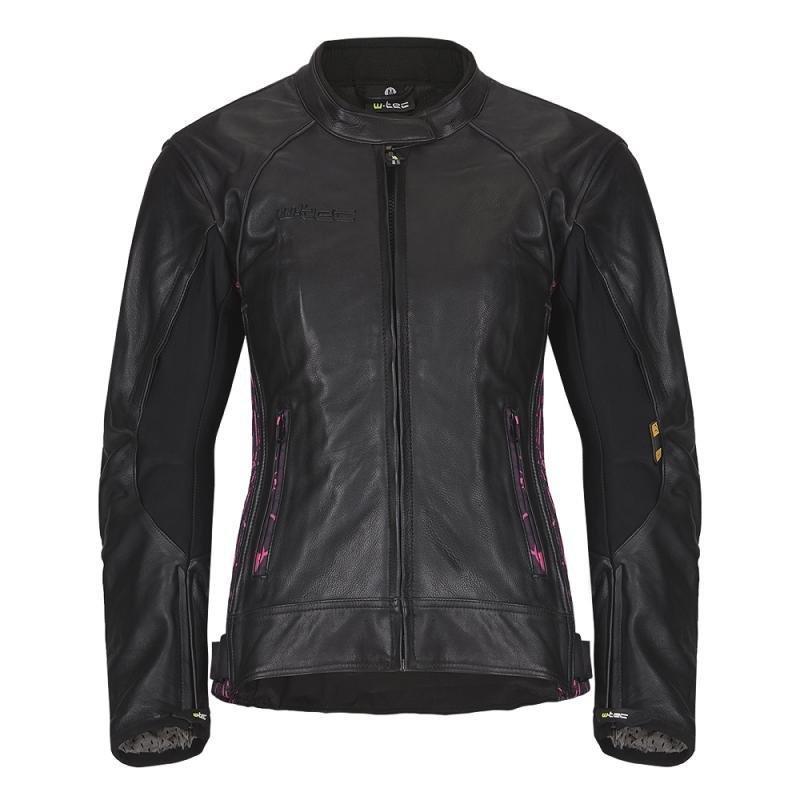 Černá dámská motorkářská bunda Caronina NF-1174, W-TEC - velikost XXS