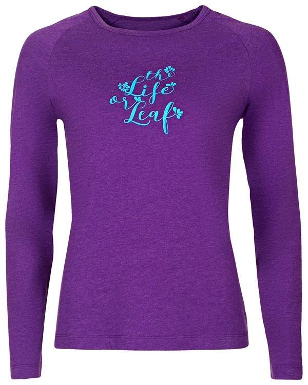 Fialové dámské tričko s dlouhým rukávem Alpine Pro