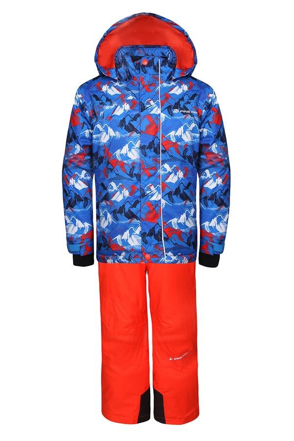Oranžový dětský lyžařský komplet Alpine Pro - velikost 92-98