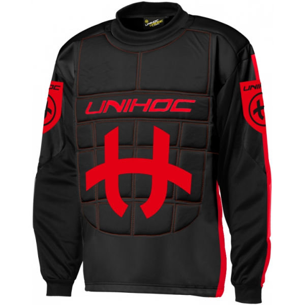 Černo-červený brankářský florbalový dres Unihoc
