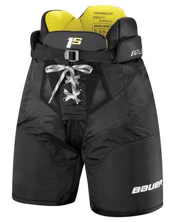 Modré dětské hokejové kalhoty Bauer - velikost S