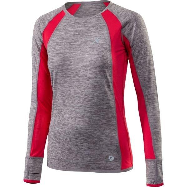 Červeno-šedé dámské běžecké tričko Klimatex