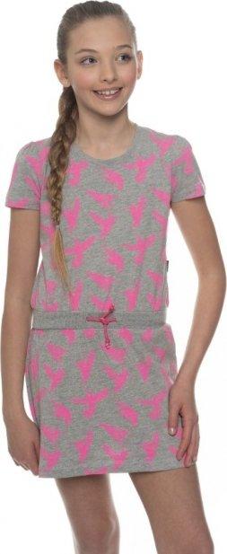 Šedé dívčí šaty Sam 73 - velikost 92-98