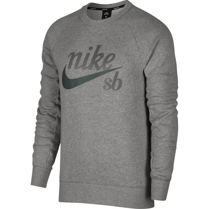 Šedá pánská mikina bez kapuce Nike