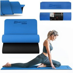 Modrá podložka na cvičení Hop-Sport - tloušťka 0,6 cm
