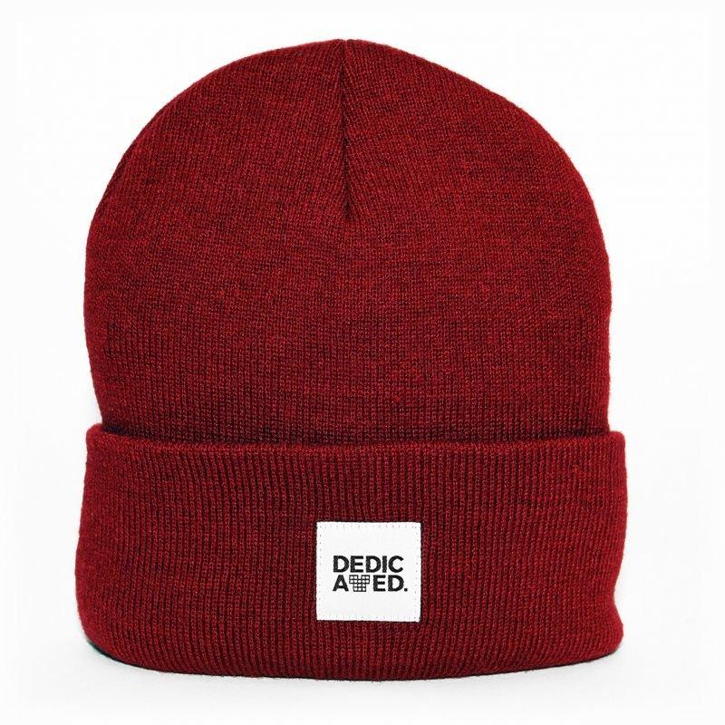 Červená zimní čepice Dedicated - univerzální velikost